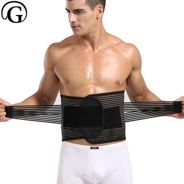 Slimming Waist Trainer Girdle Sweat Band Men Back Corrector Tummy Trimmer Abdominal Belt Double Compression Control 0365