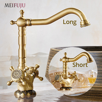 Luxury Antique Bronze 360 Degree Swivel Brass Faucet Bathroom Kitchen Basin Sink Mixer Bath Taps Faucet