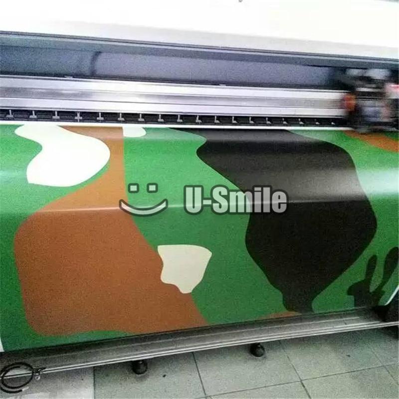 Jumbo Woodland Camo Vinyl Film Jumbo Militaire Groen Camouflage Vinyl Wrap Bubble Gratis Voor SUV TRUCK Jeep Wraps 30 m /Roll - 3