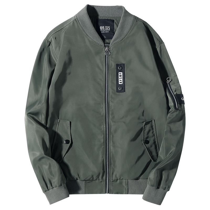 Bomber Jacket Men Pilot With Patches Green Tactical Thin Pilot Bomber The North Of Face Jacket