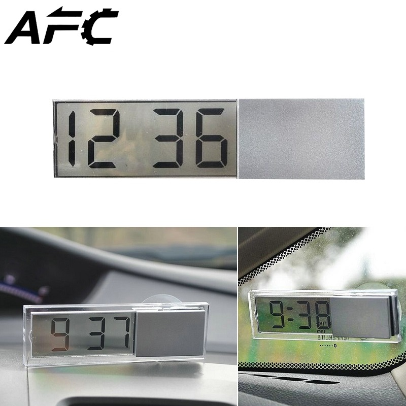 LCD Display Mini Electronic Watch-mounted Window Clock with Suction Cup Digital Car Watch Auto Car Interior Ornament Accessories