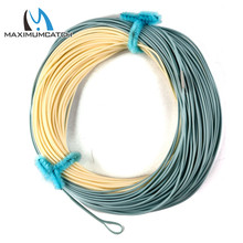 Maximumcatch Bonefish Fly Line 100 FT 5WT/8WT Sand / Blue Color With 2 Welded Loops Saltwater Fly Fishing Line