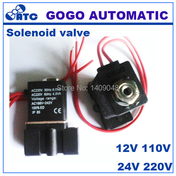 popular solenoid valve wiring buy cheap solenoid valve wiring lots gogo 3 way plastic solenoid valve mini 3p025 08 port 1 4 bsp