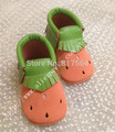 New watermelon fringe suede baby moccasins genuine leather soft sole prewalker toddlers/infants moccasin cow suede tassel moccs