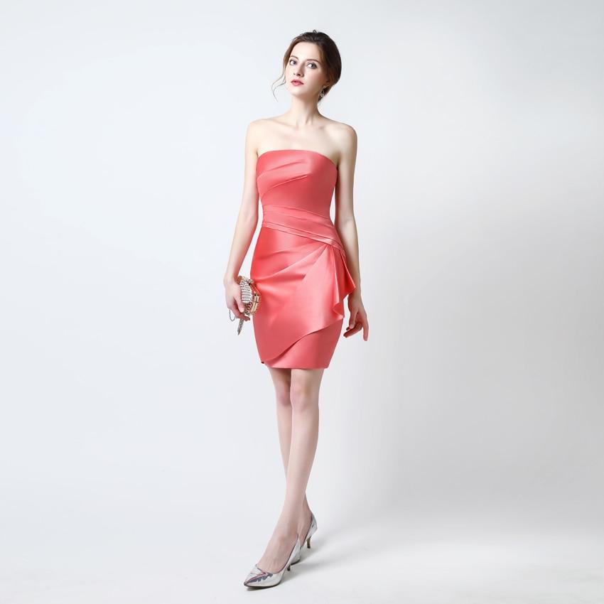 Real Photo Orange Red Cheap Short Prom Dresses 2018 Tutu Short Prom Tube  Gown Plus Size Prom Dresses Robe de bal longue-in Prom Dresses from  Weddings ... 7717b0e623d7