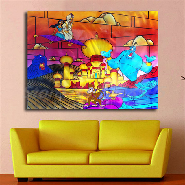Arabian Nights Living Room Small Rectangle Decorating Ideas Aladdins By Cris Woloszak Canvas Painting Print Home Decor Modern Wall Art Oil Poster Giclee