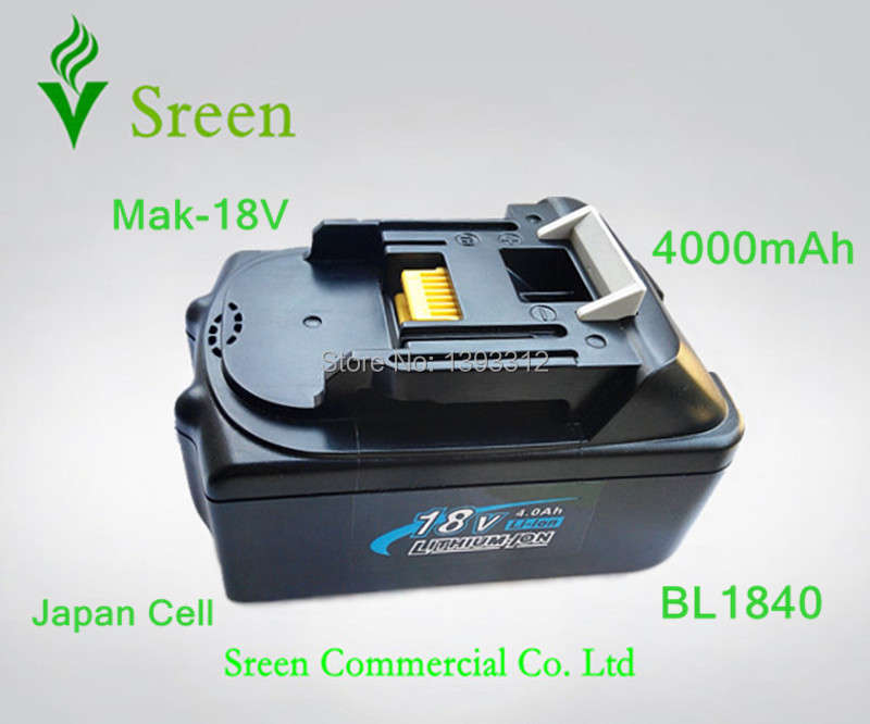 New 18V Lithium Ion 4000mAh Replacement Rechargeable Power Tool Battery for Makita BL1830 LXT400 194205-3 194230-4 BL1840New 18V Lithium Ion 4000mAh Replacement Rechargeable Power Tool Battery for Makita BL1830 LXT400 194205-3 194230-4 BL1840