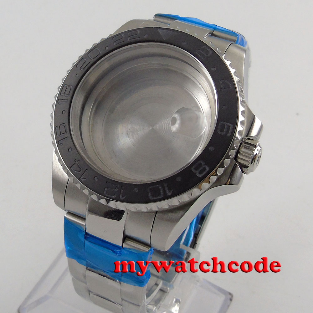 40mm brushed ceramic bezel sapphire glass Watch Case fit 2824 2836 MOVEMENT C115