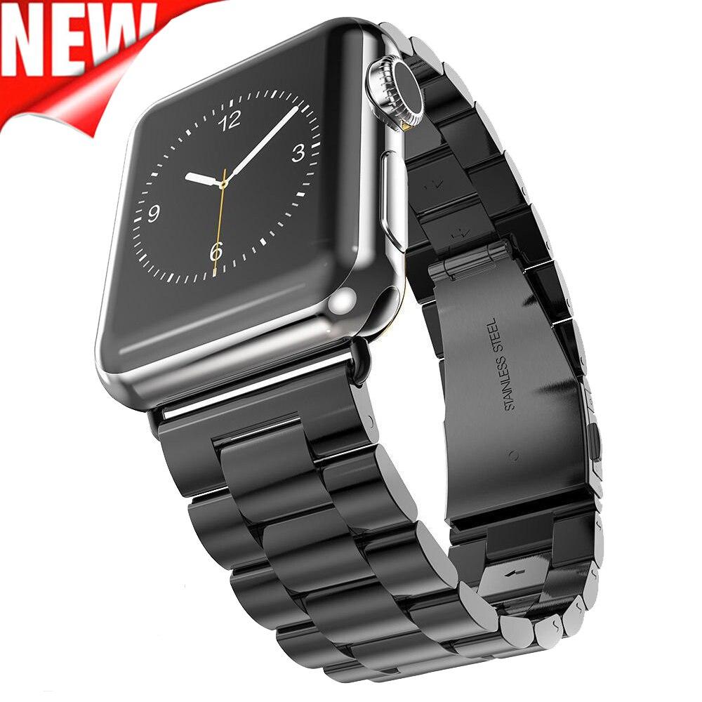 Prix pour Acier inoxydable Bande Pour Apple Montre Bracelet Lien Bracelet 38mm 42mm bracelets Montre Smart Watch Bande Métallique pour iWatch