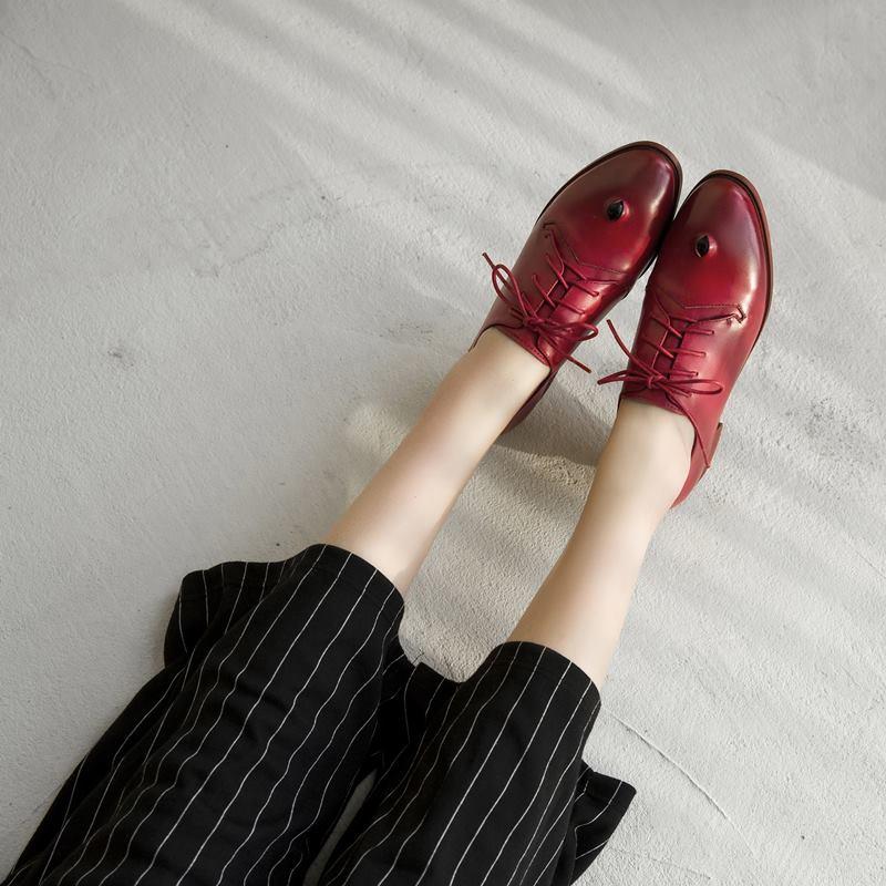 Zapatos Genuino as Redonda Medio Tacón Tacones Mujeres As Punta De Natural Moda Bombas Las Cuero Verano Cómodos Yinkoget Picture Picture Primavera xtwYBHqW