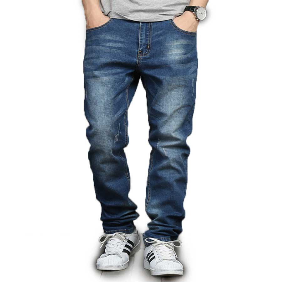 Plus Size Mens Spring Summer Jeans Stretch Lightweight Straight Denim Pants 2017 New Arrival 28-48