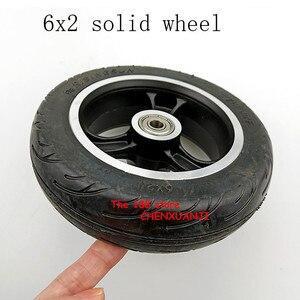 Image 2 - Freies verschiffen 6x2 solide reifen rad hub Schnelle rad F0 verbreitert hinten rad 6 zoll elektrische roller solide reifen rad