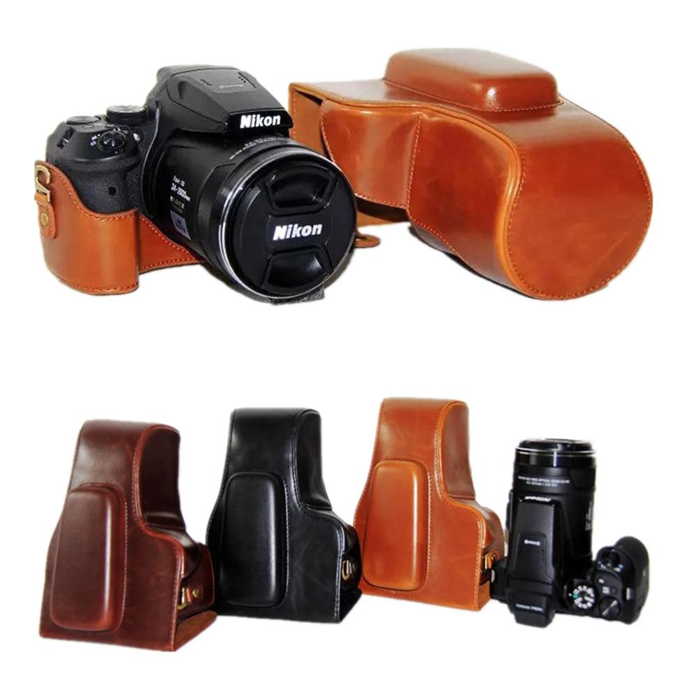 Leather Pu camera Hard case bag Grip For NIKON Coolpix P900s P900