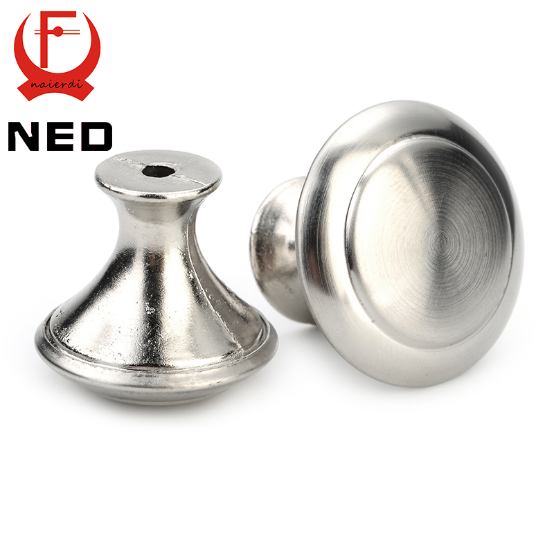 NED Diameter 24mm 28mm Cabinet Handle Stainless Steel Circle Round Handles Drawer Furniture Wardrobe Knobs Pull Handle Hardware volkl volkl transfer 81 17 18