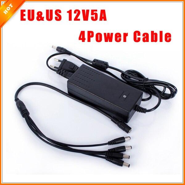 Security Camera System Cable : Eu us cord v a surveillance camera split power