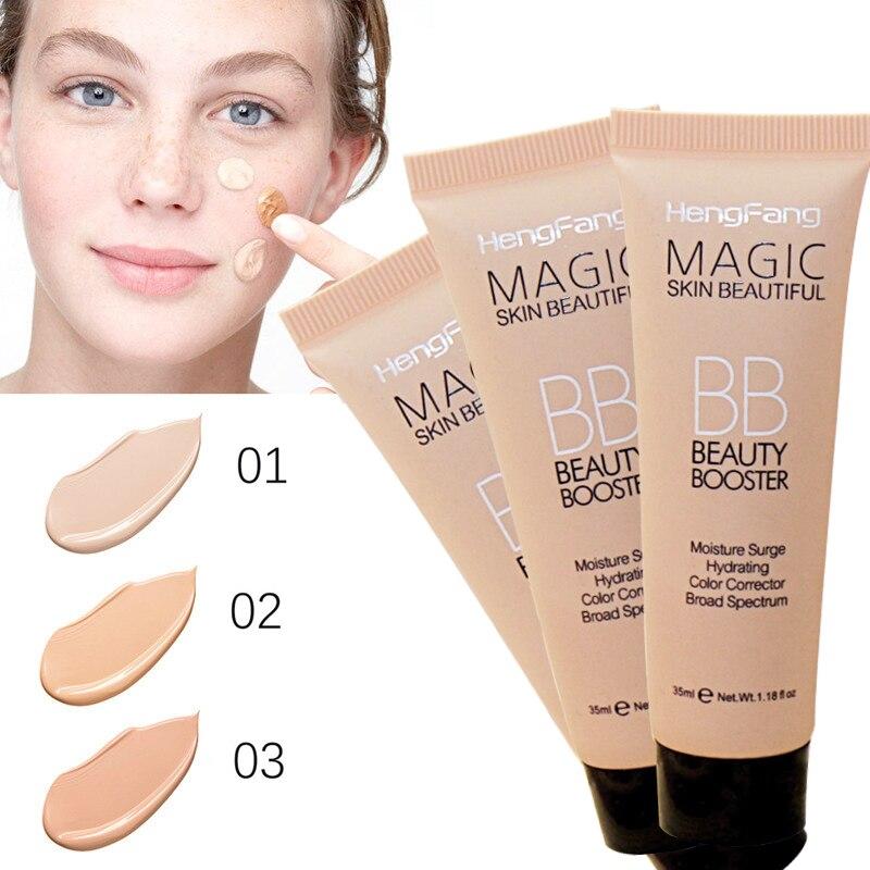 New Brighten Base Makeup Kit Sun Block Long Lasting Waterproof Face Whitening Brand Foundation Hengfang BB Cream
