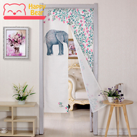 Happy Bear Cloth Curtain for Door Bedroom Living Room Door Curtains for Home Decoration Hanging Porch Bathroom Door Curtain