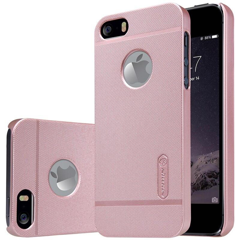 Para el iphone Caso Nillkin heló la caja para el iphone 5 5S SÍ cubierta protectora de plástico duro de nuevo caso de la cubierta con el Protector de Pantalla de Regalo