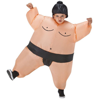 Fan Operated Inflatable Kids Sumo Suits Costume Sumo Wrestling Suits Outfits Halloween Purim Costumes Party Christmas Gift