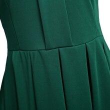 فستان قصير أنيق بأكمام طويلة مزين بشريط من الدانتيل