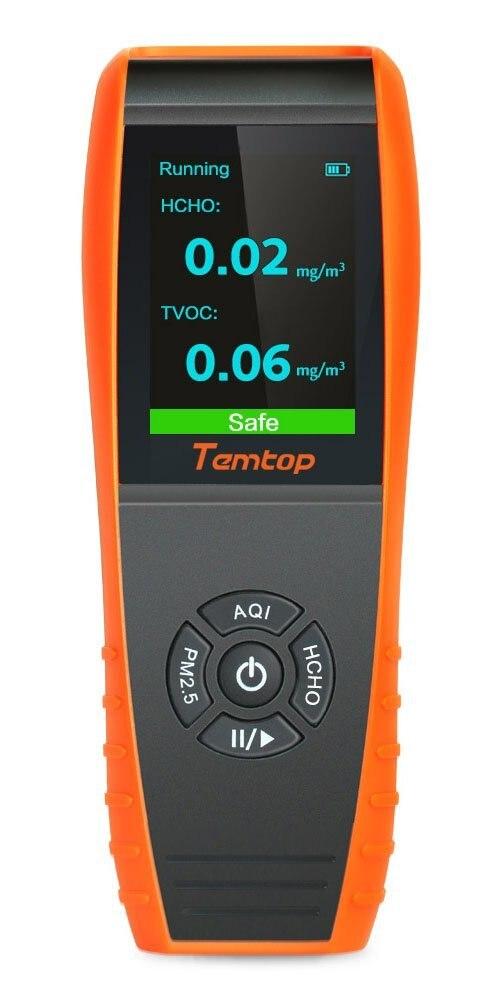 Temtop LKC-1000S + Qualità Dell'aria Rivelatore di Formaldeide Professionale Monitor di Temperatura e di Umidità Rivelatore con PM2.5/PM10/HCHO