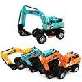 Feliz de la Cereza Niños Excavadora Tractor Vehículo de Juguete de Inercia de Camiones de Construcción de Juguete para Bebé Muchachas de Los Muchachos 3 Colores Opcionales