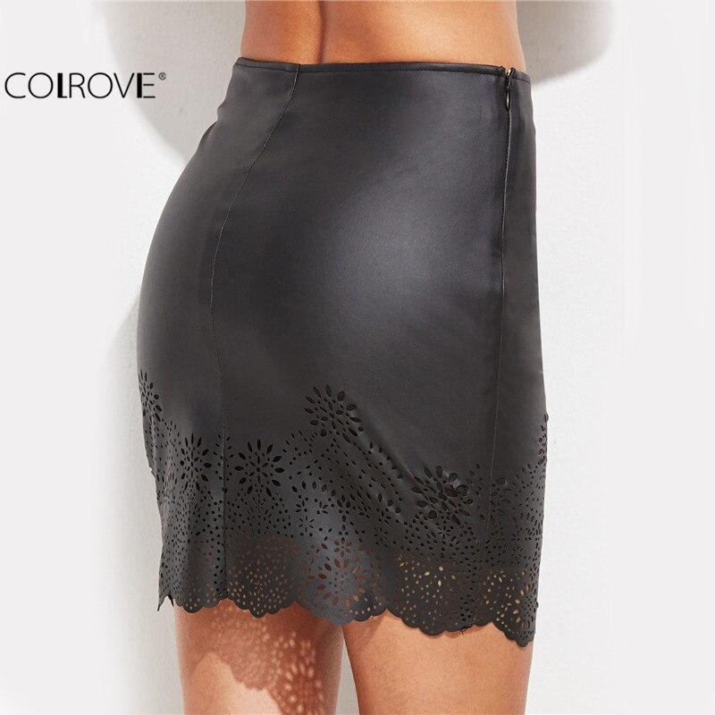 COLROVE Sexy Clubwear Women Mini Skirt Tight Short Skirts Work ...