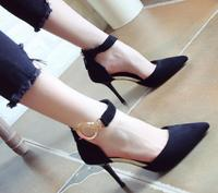 Spring and Autumn season new shallow fluff surface fine with rear zipper OL 100 catch high heel sandals