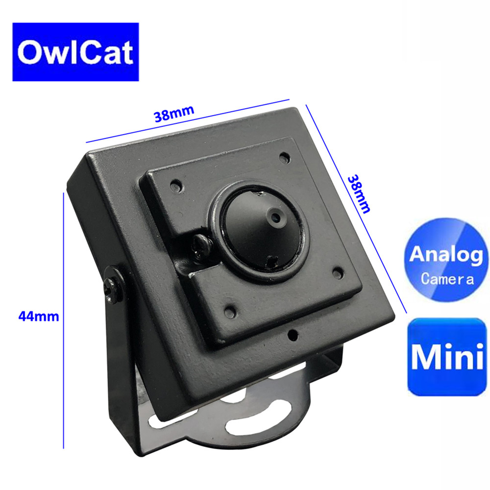 OwlCat 700TVL CMOS Wired Mini Box Micro Home Security Surveillance Video CCTV Security Camera with Metal Body 3.7MM LensOwlCat 700TVL CMOS Wired Mini Box Micro Home Security Surveillance Video CCTV Security Camera with Metal Body 3.7MM Lens