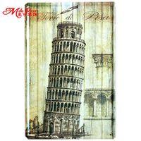 [Mike86] torre De Pisa Italia A-457 Metal Pintura Cartel de chapa Retro Decoración de La Pared de La Vendimia Orden de La Mezcla de 20*30 CM