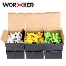 Worker 3 Color Set Pack of 300 Soft Bullets 3.2cm Soft Head Short Bullet for Nerf Converted Elite Retaliator