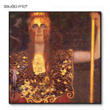 The Best Artist Hand-painted Top Quality Minerva or Pallas Athena Oil Painting on Canvas Reproduction Gustav Klimt