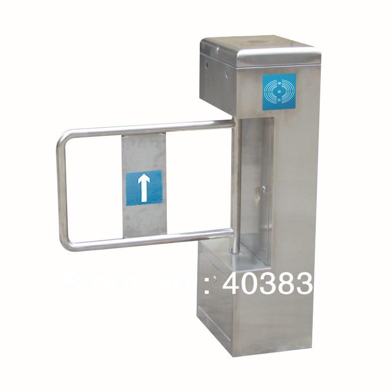 цена на stainless steel swing gate/ Semi-Automatic Swing Barrier Turnstile