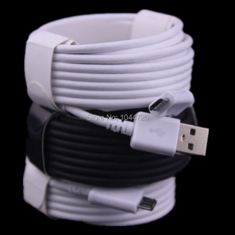 imágenes para Alta calidad 200 unids/lote 3 m 2 m 1 m Paquetes de Accesorios de cable micro usb para samsung s4 s6 blackberry htc lg