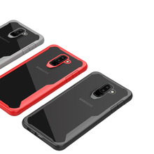 For Samsung Galaxy j8 2018 Case Soft Silicone+Transparent PC Armor Protective Back cover Case for Samsung J8 2018 phone Shell
