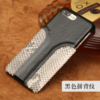 LANGSIDI Phone Case Snake Skin Fight Wax Leather Back Cover Case For Iphone 6SP Mobile Phone