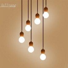 Juliyang деревянный подвесной светильник держатель fix с G80 светодиодные лампы для магазина, столовой, ресторана, светильник 220 В 110 В