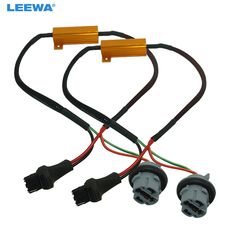 FEELDO 2pcs 7440 Canbus Error Free Resistor LED Decoder Warning Error Canceller For 7440 7444 T20 992A LED Turn Signal Bulb
