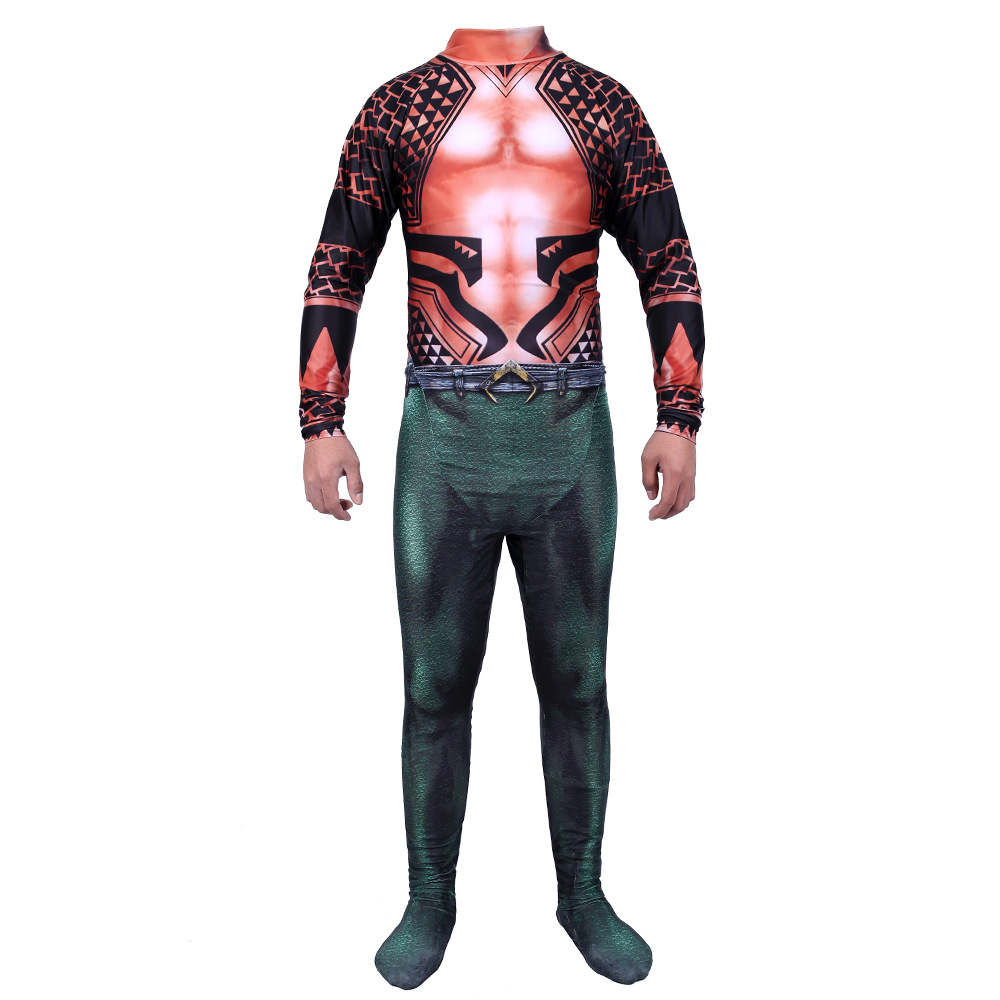 New Movie Aquaman Cosplay Costumes Arthur Curry Orin Superhero Spandex Zentai Halloween Party Suits