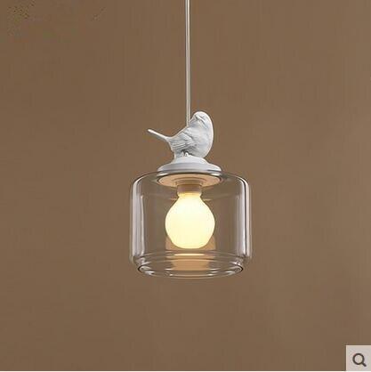LED criativo restaurante café bar sala de crianças de aves 31 w 40 w droplight única cabeça de vidro 110 v 240 v - 2