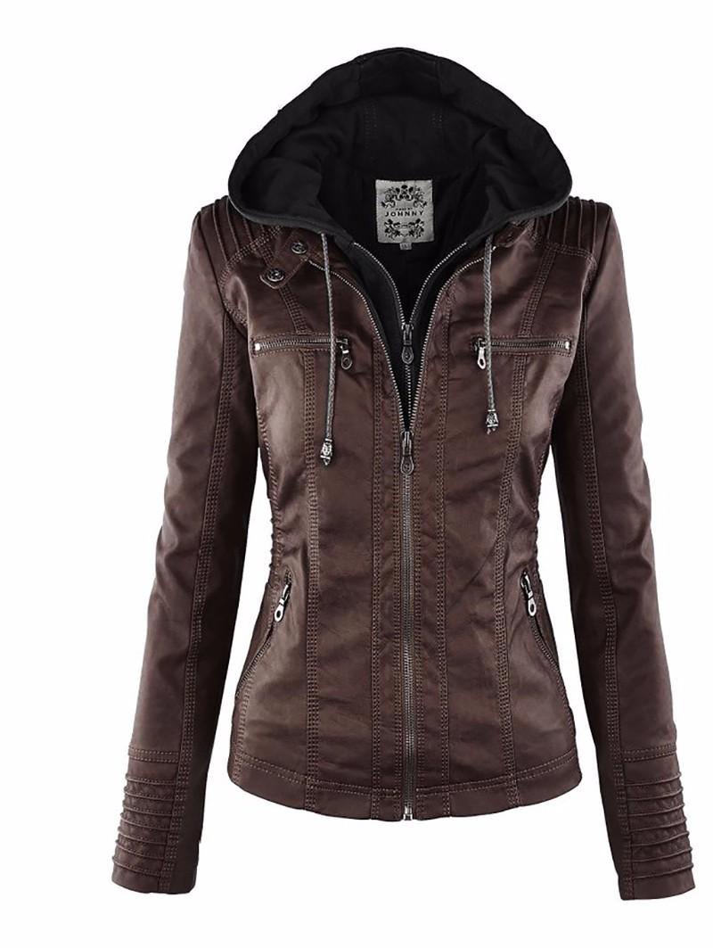 18 Winter Faux Leather Jacket Women Casual Basic Coats Plus Size 7XL Ladies Basic Jackets Waterproof Windproof Coats Female 50 9