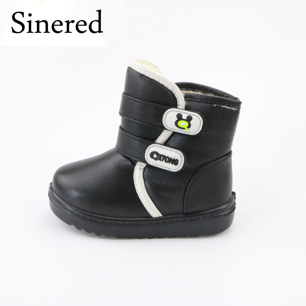 Sinered new children's waterproof snow boots non-slip thick keep warm comfortable boys girls cotton boots cute shoes for kids