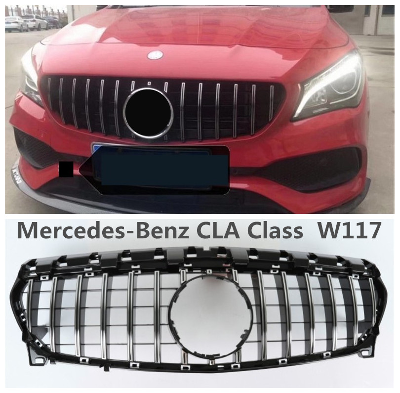 Auto Grille Racing Grills For Mercedes Benz CLA Class W117 CLA63 2013 2014 2015 2016 2017 2018 High Quality ABS Car Accessories