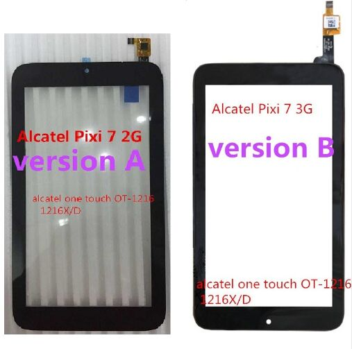 TOUCH PANEL LCGP070984 LCGB0701064 7 For Alcatel Pixi 7 3G 2g OT-1216 1216X 1216D TOUCH SCREEN DIGITIZER Tablet Free Shipping
