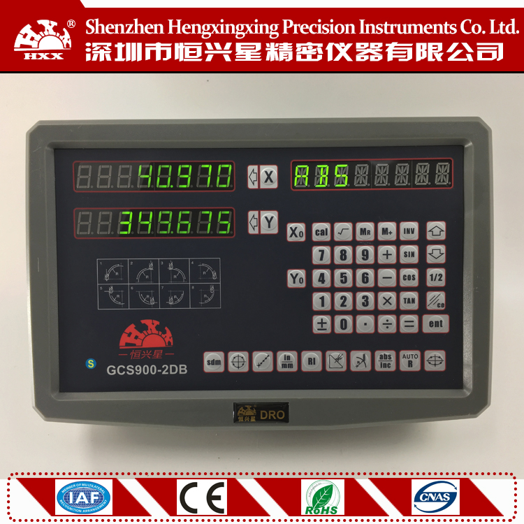 measuring instrument digital readout dro hxx factory GCS900-2DB 2 axis readout  for lathe /milling /boring /edm with one complete set 3 axis milling machine linear glass scale and digital readout dro