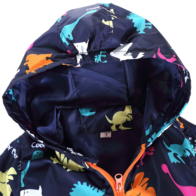 80-120cm Cute Dinosaur Acitve Children Boy Jackets Spring Clothes For Kids Girls Trench Coats Windproof Camouflage Outerwear (13)