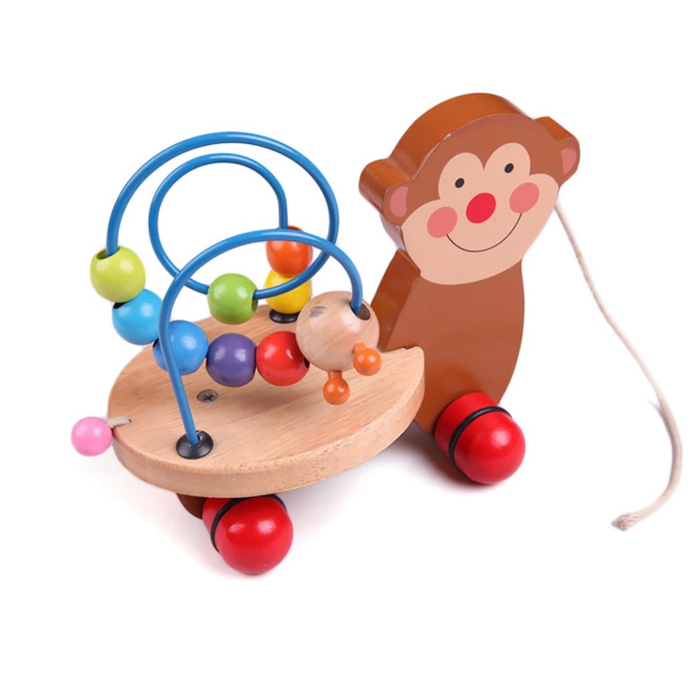 Educational Animal Trailer Toy Mini Around Beads Learning