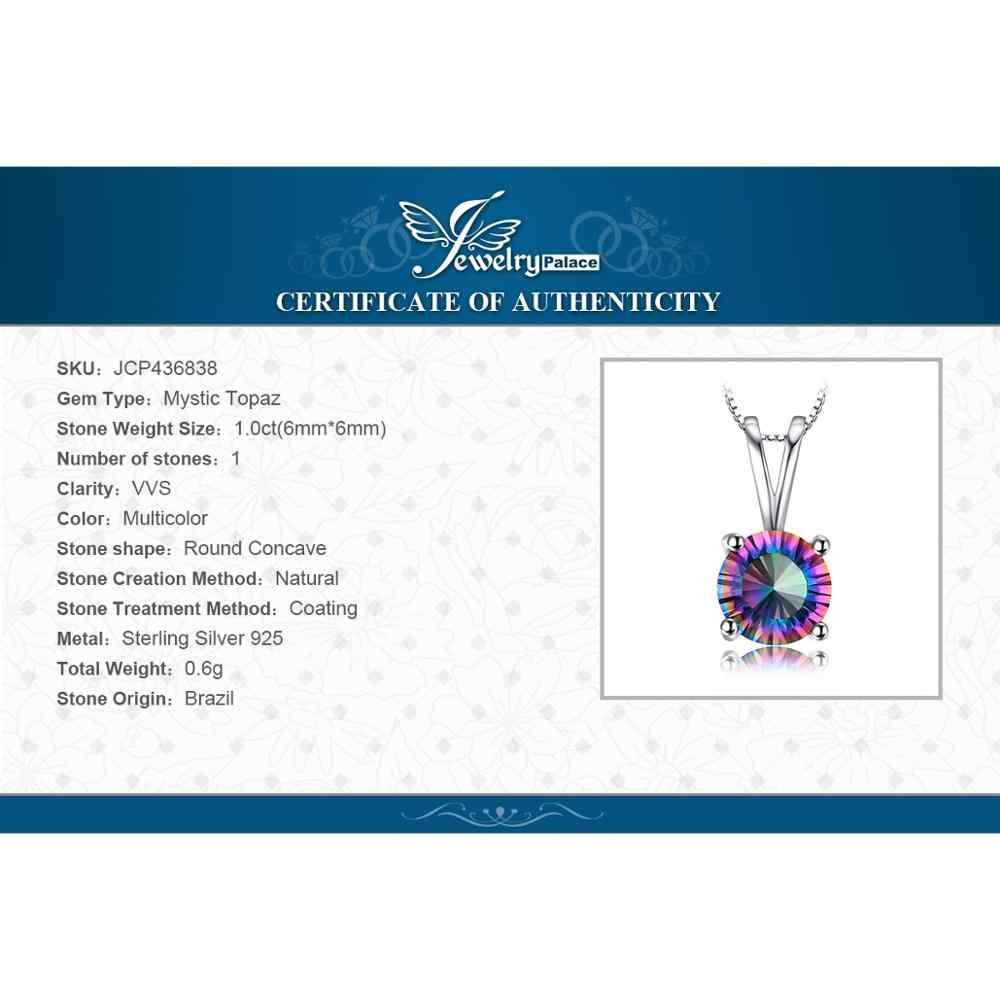 Mystic topaze chaîne pendentif collier boucles d'oreilles ensemble d'anneaux 925 en argent Sterling pierres précieuses ensembles de bijoux en argent 925 bijoux pour femmes