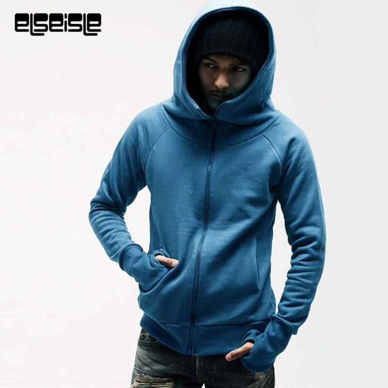 Hoodies Hip Hop Turtleneck Pullover Hoodie Sweatshirt Slim Fit Men Hoody