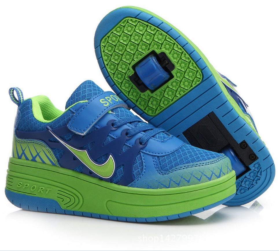 Roller shoes cheap - Top Quality Children Shoes With Two Wheels Roller Skates Breathable Casual Sport Fashion Kids Sneakers